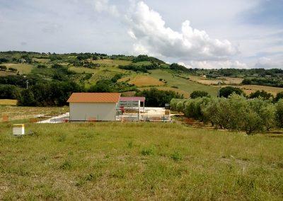 Nuova costruzione di un fienile e di un opificio per produzione di miele e confetture a Pomaia (PI).